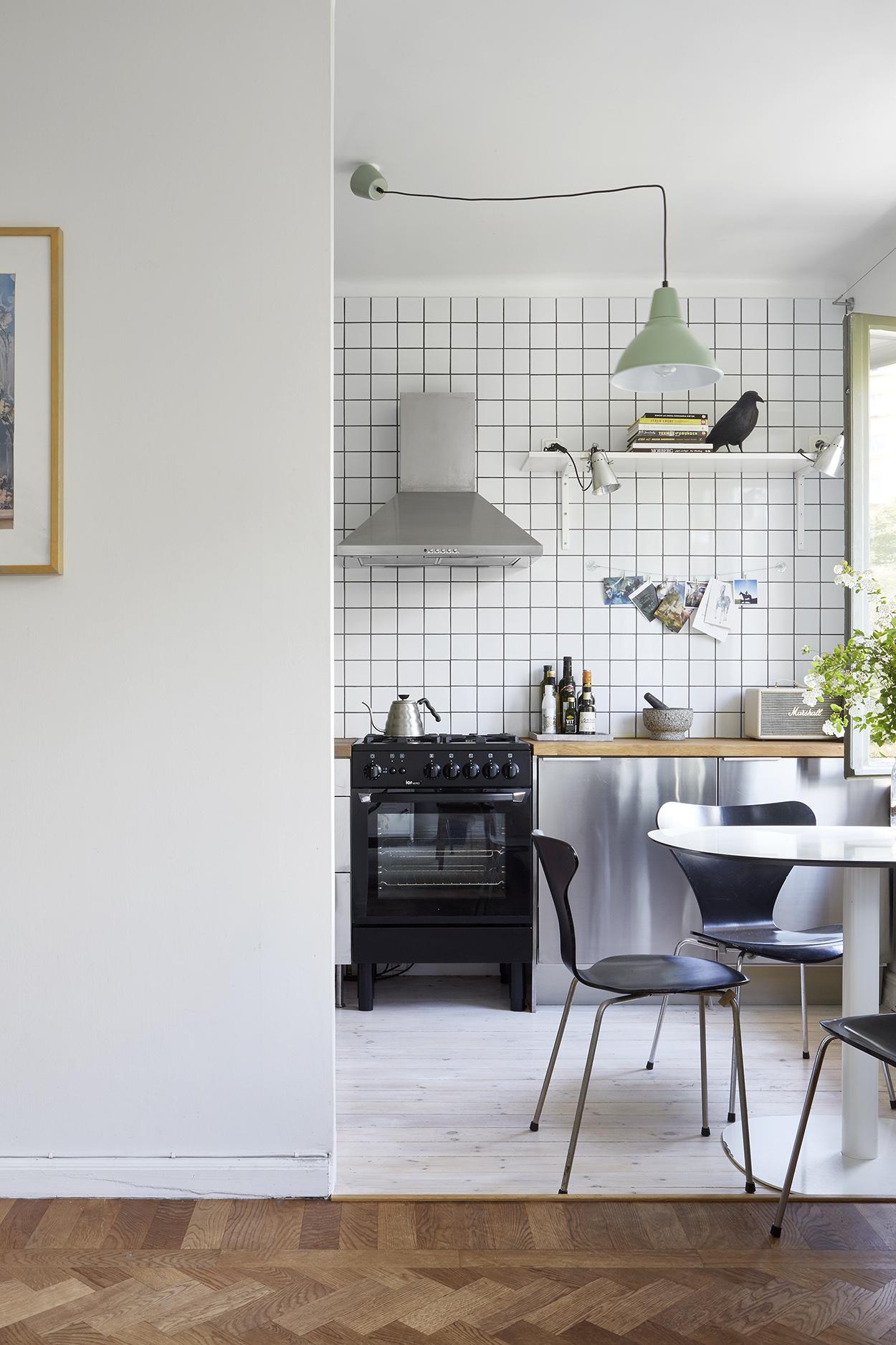 Open Keuken Ideeen.Kleine Half Open Keuken Van Appartement Van 38m2 Interieur