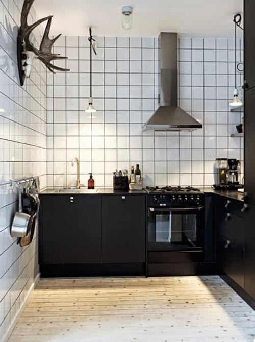 Kleine Zwarte Hoekkeuken Van Ikea Interieur Inrichting