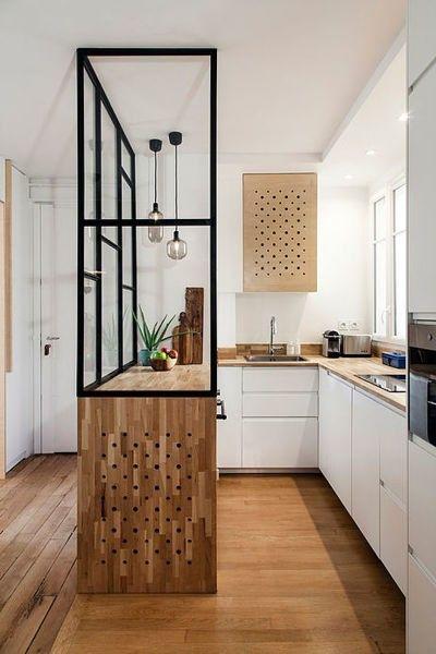 Kleine keuken glazen wand