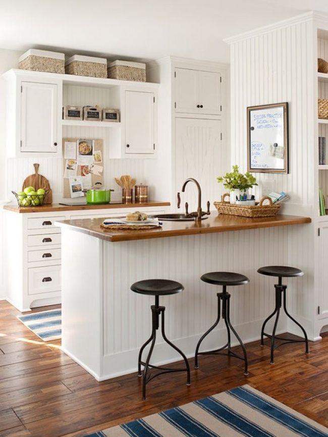 Gebruik de bovenkant van de keukenkasten