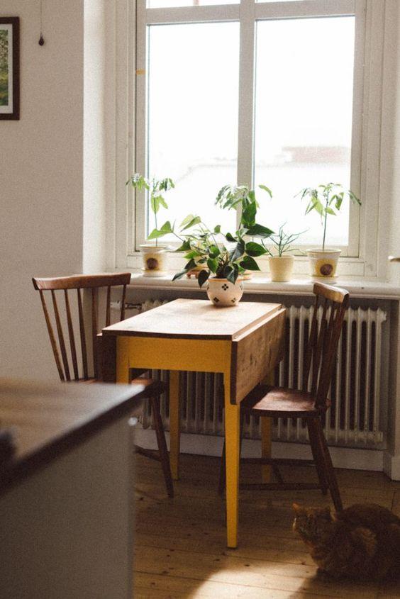 Kleine keuken inrichten inklapbare tafel