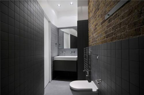 Kleine moderne stoere badkamer  Interieur inrichting