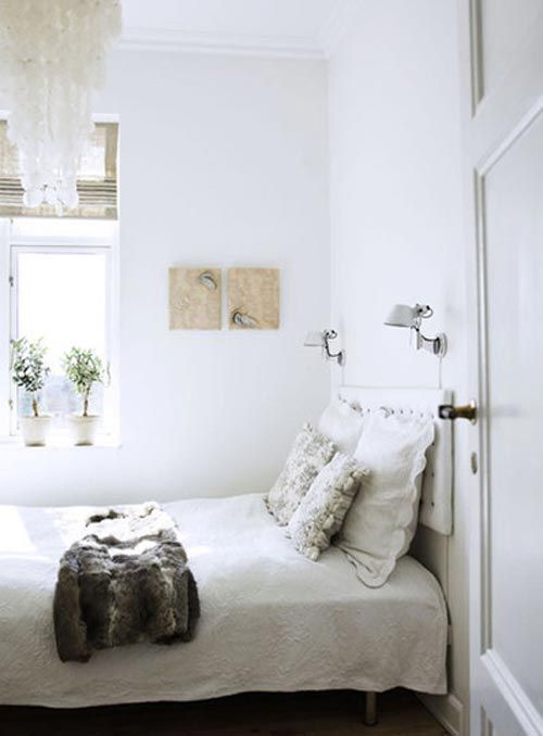 Kleine slaapkamer interieur inrichting for Bedroom decorating tips small space