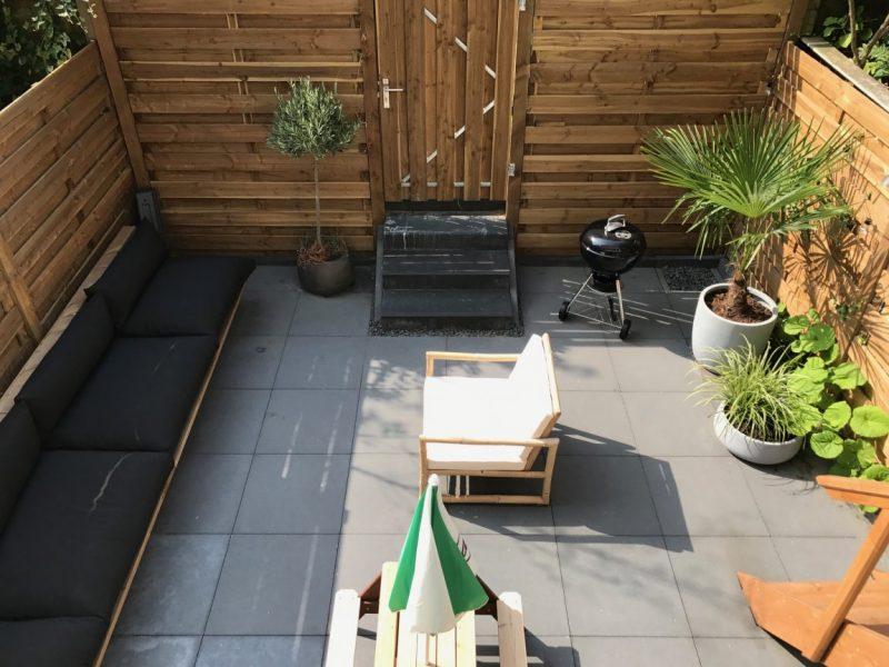 kleine tuin ideeën kleine onderhoudsvriendelijke stadstuin