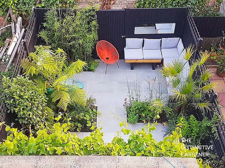 kleine tuin inspiratie compacte moderne tuin plantenborders