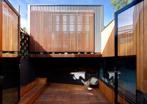 Kleine tuin als verlengde van woonkamer