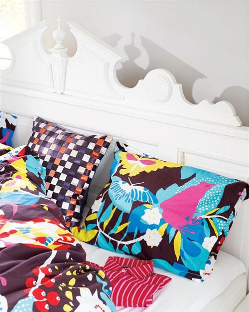 slaapkamer, slaapkamer ideeen, kleur in slaapkamer, kleurrijke ...