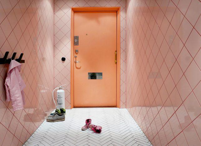 Kleurrijke hal van interieurarchitect Daniel Heckscher