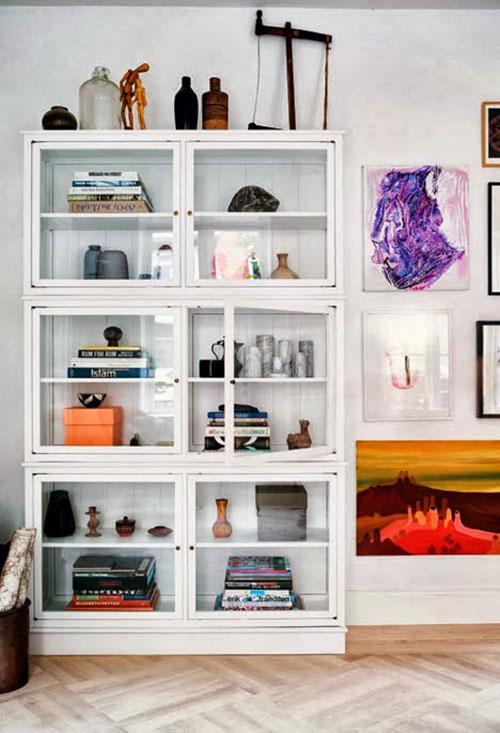 Kleurrijke Scandinavische woonkamer