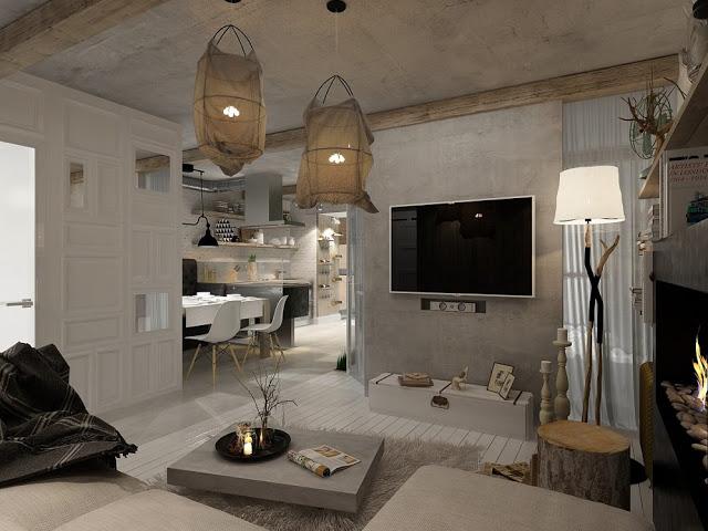 Knusse sfeervolle woonkamer interieur inrichting for Afbeeldingen interieur