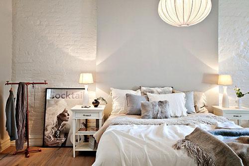 Knusse slaapkamer interieur inrichting - Decoratie voor slaapkamer ...