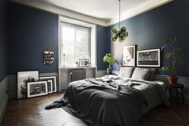 koele herfstkleuren slaapkamer