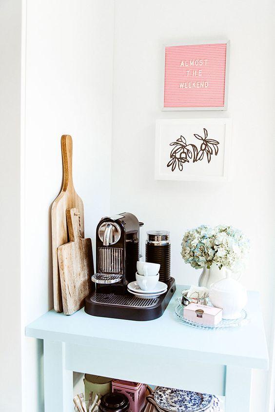 Koffiehoekje inrichten