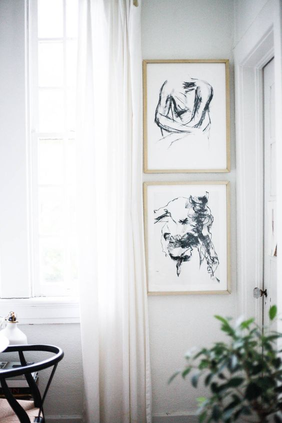 Kunstwerken die bij elkaar passen