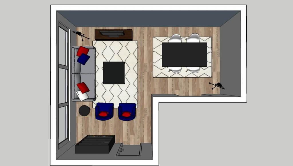 l-vormige woonkamer grote zithoek