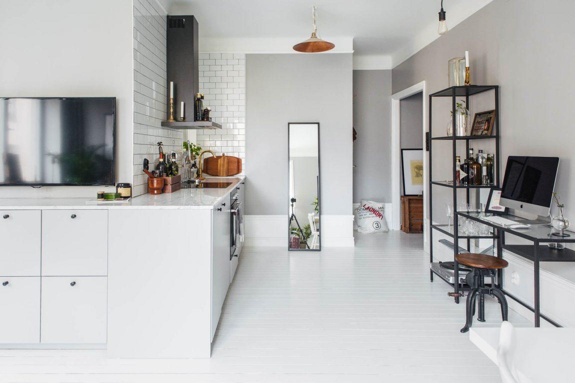 l-vormige woonkamer ideeën tv meubel keuken