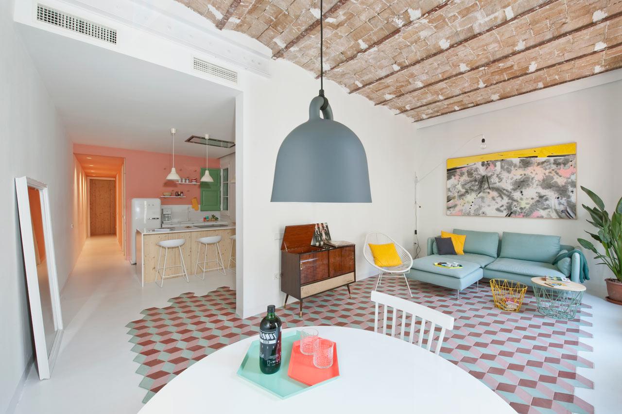 l-vormige woonkamer witte muren