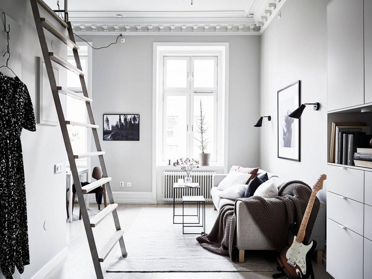 Klein Scandinavisch appartement ingericht met veel stijl en ...