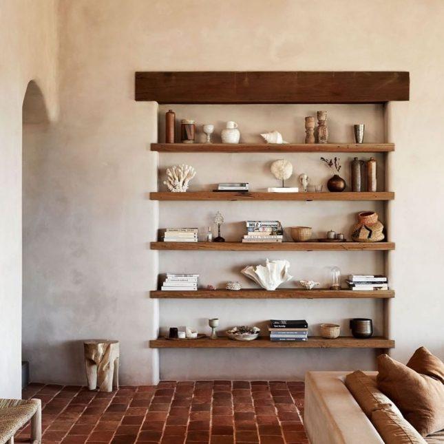 landelijk interieur ideeen houten wandplanken