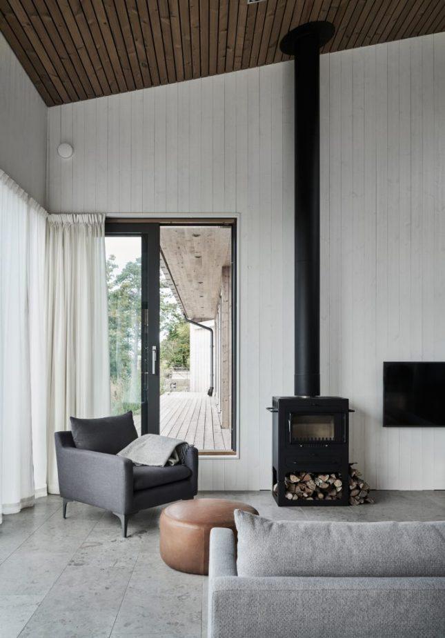 landelijk interieur ideeen nieuwbouwwoning houten wandbekleding