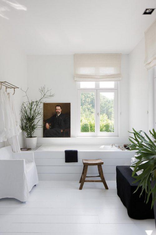 Landelijke badkamers voorbeelden wit