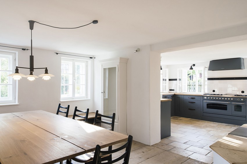 Keuken Landelijk Grijze : Landelijke grijs blauwe keuken interieur inrichting