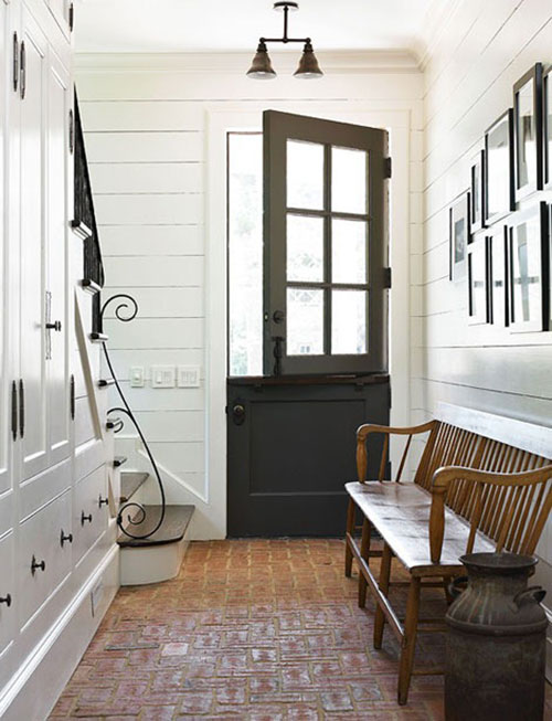 Beautiful doors white french door with glass panes on barn style - Landelijke Hal Inrichten Interieur Inrichting