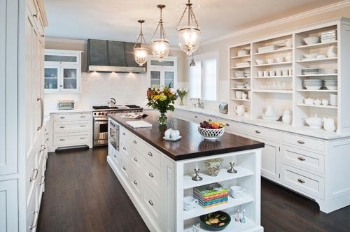 Bruynzeel Keuken Antraciet : Mahogany Countertops with White Kitchen Cabinets