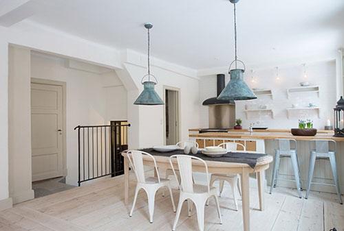 Landelijke open keuken interieur inrichting - Open keukeninrichting ...