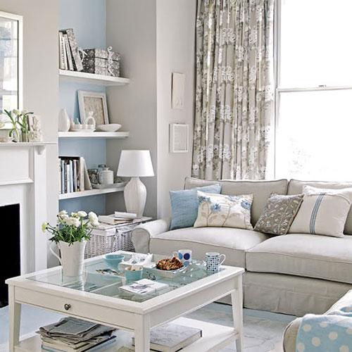 Landelijke woonkamer interieur inrichting - Kleine woonkamer decoratie ...