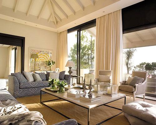 Landelijke woonkamer : Interieur inrichting