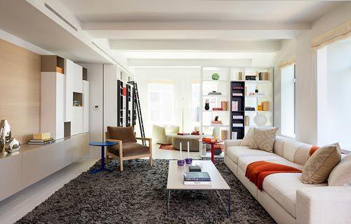 Langwerpige woonkamer appartement in New York