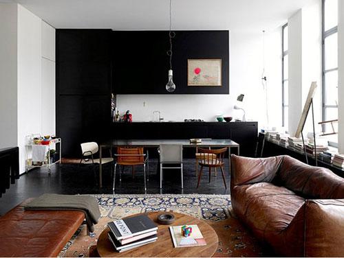 Ideeën en Design » Inrichting Woonkamer Donkere Vloer ...