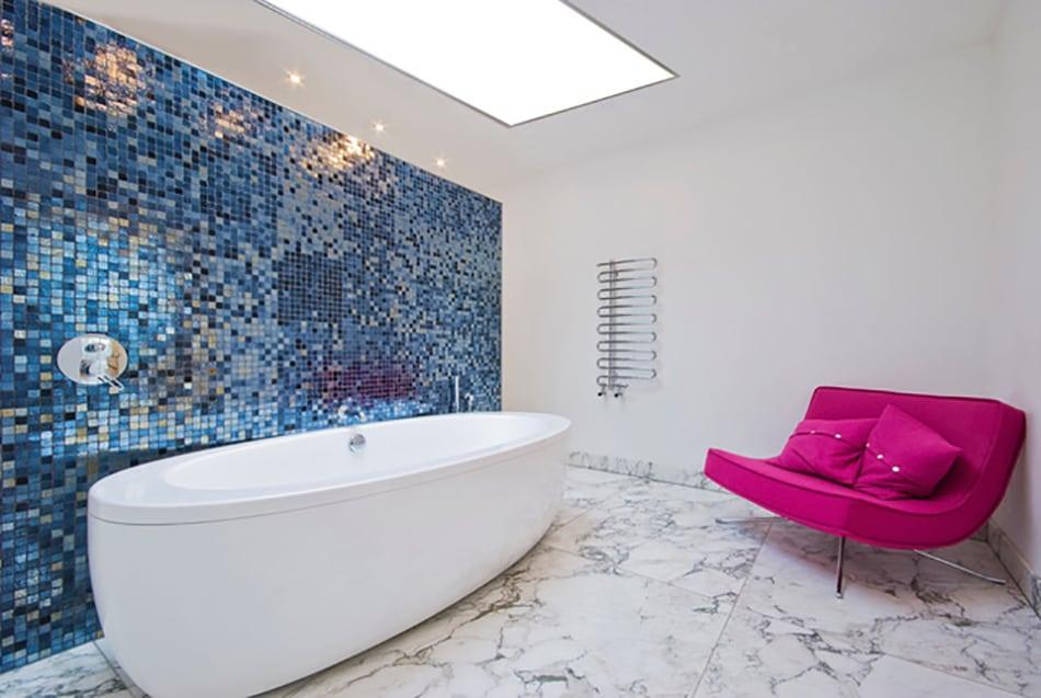 Led paneel verlichting in de badkamer