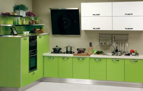 Lelijke groene keuken