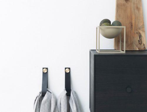 Leren wandhaken Stropp van by Lassen
