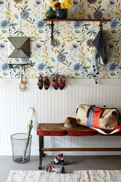 Leuk behang in de hal | Interieur inrichting