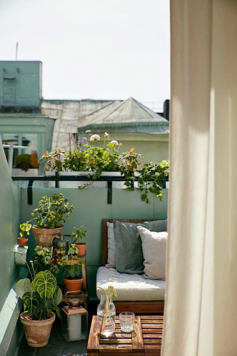 leuke balkon planten terracotta