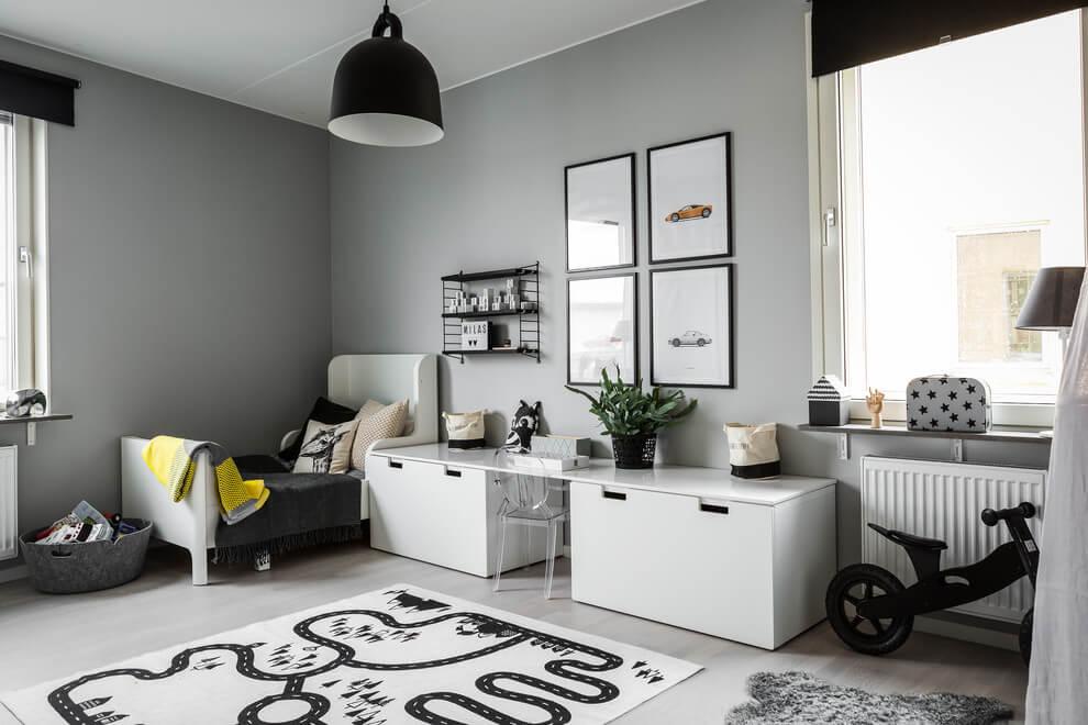 Interieur inrichting idee n inspiratie interieur - Zwart meisjes kamer en witte ...