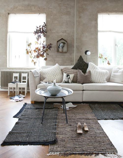 Leuke vloerkleed in de woonkamer | Interieur inrichting