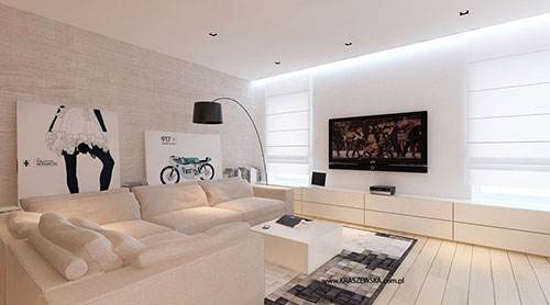 Licht woonkamer ontwerp van katarzyna kraszewska for Woonkamer ontwerpen