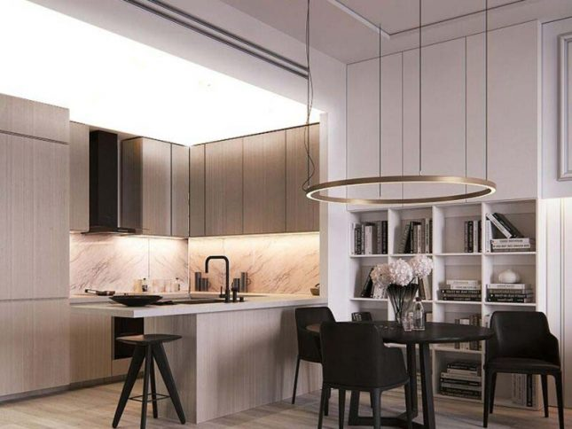 lichtdoorlatend spanplafond-keuken