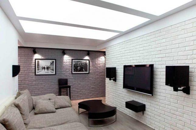 lichtdoorlatend spanplafond woonkamer