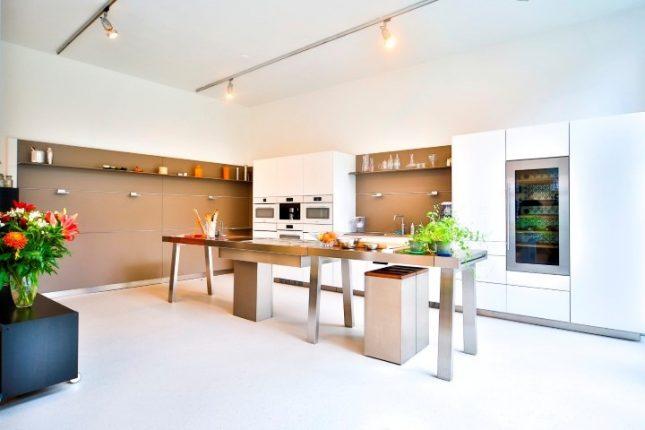 lichte troffelvloer keuken