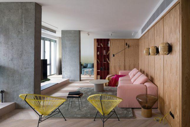 living inspiratie houten vloer hongaarse punt woonkamer