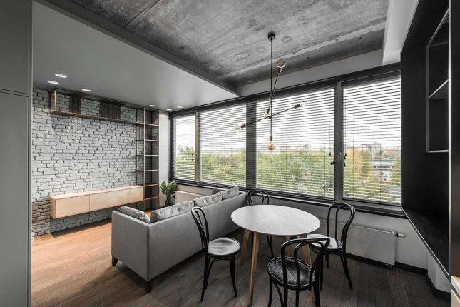living inspiratie kleine woonkamer met open keuken