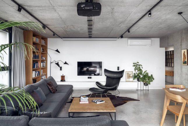 living inspiratie moderne woonkamer industrieel tintje
