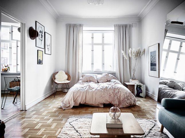 living inspiratie open slaapkamer styling