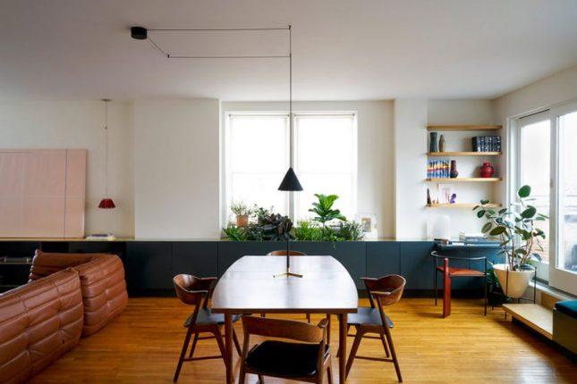 living inspiratie vintage woonkamer eettafel
