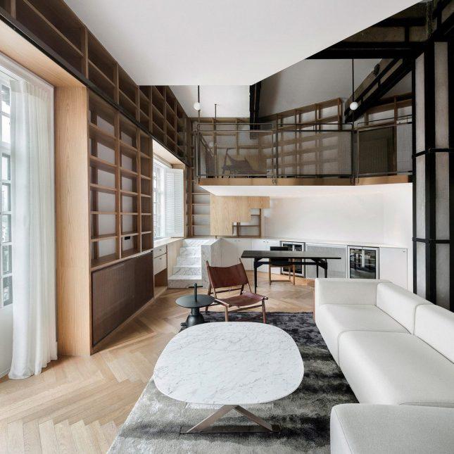 living inspiratie woonkamer maatwerk boekenkast